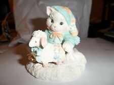 "Calico Kitten Figurine ""Ewe Warm My Heart"""