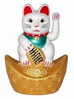 10cm Winkekatze Glückskatze Glücksbringer Maneki Neko Glücksbringer Katze Deko