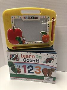 Eric Carle Learn to Count Book with Magnetic Drawing Pad