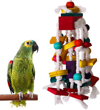 Rypet Bird Chewing Toy - Parrot Cage Bite Toys Wooden Block Bird Parrot Toys for