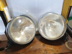 Driving Lights Used ×2 190mm - 1 cracked glass not working (likely bulb)