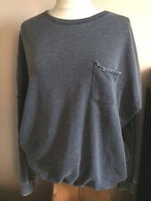 Abercrombie & Fitch - sweat bleu ample - Taille XS (16/18 ans)