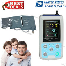 CONTEC CMS50F Wrist Pulse Oximeter with Finger Probe USB Cable and Charger - Blue