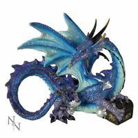 Nemesis Now Piasa Dragon Figure 12cm Purple Mythical Gothic Statue Ornament Gift
