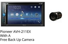 "NEW PIONEER AVH-211EX  6.2"" Car STEREO DVD CD BLUETOOTH WITH FREE BACK UP CAMERA"