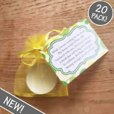Baby Shower Candles - YELLOW - Favour Gift Present - 20 Pack