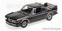 1:18 Minichamps BMW 3.0 Csl (E9) Coupè 1973 Nero con Strisce Lmtd.ed. 1/504
