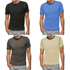 Hanes T-Shirt Contrast  Stitching Gr. S-M-L-XL-XXL  Polo Top Baumwolle 4 Farben