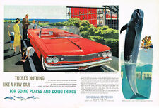 Vintage 1960 2-Page Magazine Ad General Motors There's Nothing Like a New Car