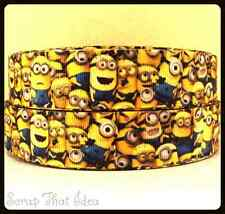 "Minions RIBBON.  1"" Grosgrain. Scrapbooking/Bows. Despicable Me. Kids Movie"