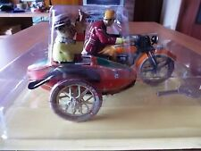 PANHARD I-804 motocicletta con sidecar in latta - funzionamento a corda - nuovo
