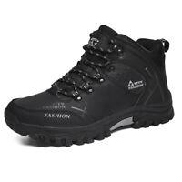 Men's High Top Hiking Shoes Outdoor Climbing Boots Waterproof Warm Winter Walk