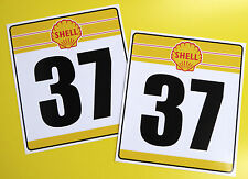 VINTAGE style Classic Car 'SHELL' RACE NUMBERS ideal for MINI COOPER