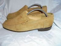 RUSSELL & BROMLEY MEN'S TAN SUEDE LEATHER LOAFER SHOES  SIZE UK 7 EU 41 VGC