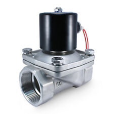 """2"""" Inch SS 24V AC STAINLESS STEEL Electric Solenoid Valve Water Gas 24 Volt"""