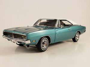 "Danbury Mint 1969 Dodge Charger SE ""Turquoise Poly"" LE w/ Paperwork 1:24"