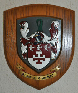 Thacker plaque shield crest coat of arms