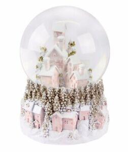 Large Musical Christmas Snowy LED Village Scene Snow Globe 18cm Jingle Bells