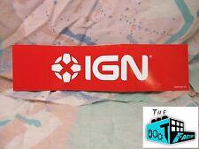"IGN LOGO 11.5"" x 3"" Bumper Sticker - Nerd Block's IGN Box"