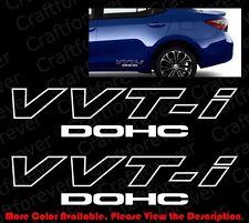 2 pieces x Vvt-i Vvti Dohc Jdm Vinyl Car Window Die Cut Decal Stickers Ty004