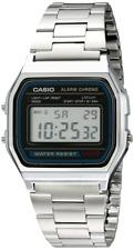 Casio A158wa-1cr Unisex Classic Alarm Chronograph Watch