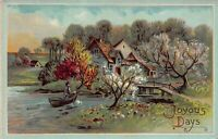"""Vintage """"Joyous Days"""" 1920's Postcard"""