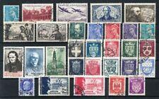 France année complète 1942 Yvert n° 538 à 567 oblitérés 1er choix
