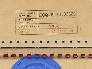 (50 pcs) ECQ-P1H102GZ9  Panasonic, 0.001uF 50V 2%, Polypropylene Film Capacitor
