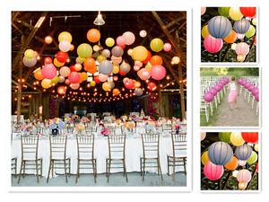 1/2/5/10 Round Paper Lantern Paper Lanterns Lamp Shade Birthday Wedding Party