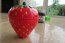 Strawberry Kitchen Timer Party Gift Xmas Present Stocking Filler Mum Dad Novelty