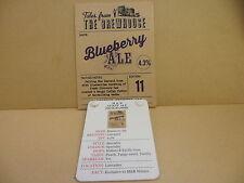 Lancaster Blueberry Ale Pump Clip face pub Collectible w/ Taste Note 40