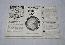METROPOLITAN TRANSIT AUTHORITY SYSTEM ROUTE MAP BOSTON MASSACHUSETTS MTA
