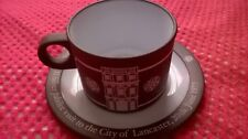 HORNSEA POTTERY QUEENS SILVER JUBILEE CUP AND SAUCER VISIT TO LANCASTER FREE DEL
