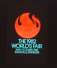 Orig 35mm Slide Transparency TV Station Graphic 1982 World's Fair Knoxville