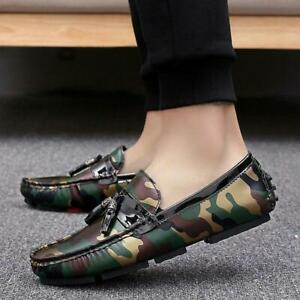 Camouflage Mens Driving Moccasins Casual Shoes Slip on Loafers Soft Boat Shoes