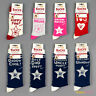 WOVEN BOOFLE SOCKS - VARIOUS DESIGNS - MALE, FEMALE, MUMMY DADDY ETC - BRAND NEW