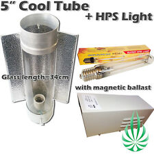 """5"""" 125mm Cool Tube Reflector With Magnetic Ballast And 250W HPS Grow Light"""
