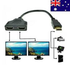 HDMI Male 2x to HDMI Double Y Splitter Female Adapter Cable Lead HD TV Pratical