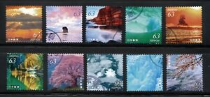 2021 Used Natural Landscapes, 63yens 10 diff. Stamps, Latest!!