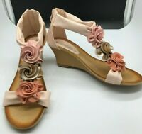Patrizia by Spring Step Harlequin Flower SZ 8 Strap Wedge Sandals Womens NEW!