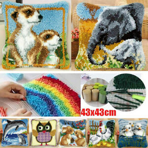 DIY Latch Hook Rug Making Kit for Beginners Embroidery Craft Kit Home Decor UK