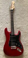 Fender Stratocaster Squier E-Gitarre Strat Gitarre Gigbag rot