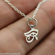 EYE OF HORUS NECKLACE - 925 Sterling Silver Charm Jewelry Eye of Ra Protection