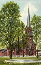 Postcard Pk Ak Coloured Unused Congregational Church Card USA