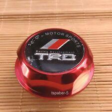 New JDM TRD Engine Oil Filler Cap Made of Billet Aluminum Red Fit JAPAN CAR