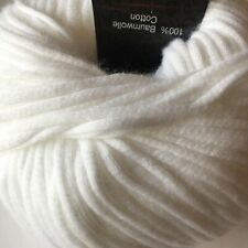 """Set Of 3/"""" /""""Cotton Fair Solid Yarn-White"""