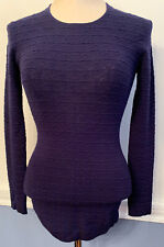XS Ingrid & Isabel Maternity Navy Blue Round Patterned Knit Lightweight Sweater