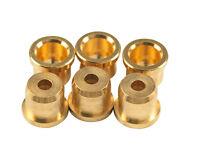 Kluson Replacement String Ferrules For Fender Telecaster (Set 6) Gold KSB115G