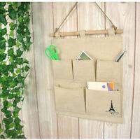 5 Pockets Closet Door Home Wall Hanging Organizer Storage Stuff Bag Pouch nOD MF