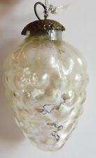 """Vintage Antique Heavy Blown Glass Kugel Grape Christmas Ornament 3"""""""